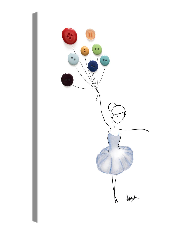 Gallery of Innovative Art - Virgola Art - BALLOON DANCER - 60x80cm
