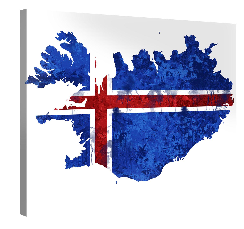 Iceland Artwork – Premium Kunstdruck Wand-Bild – 100x75cm