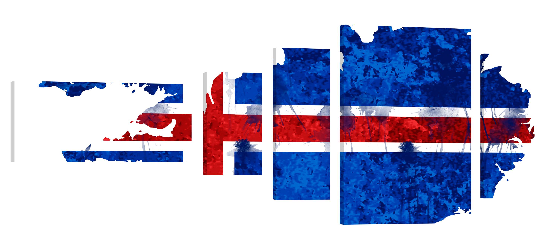Iceland Artwork – Premium Kunstdruck Wand-Bild – 200x80cm