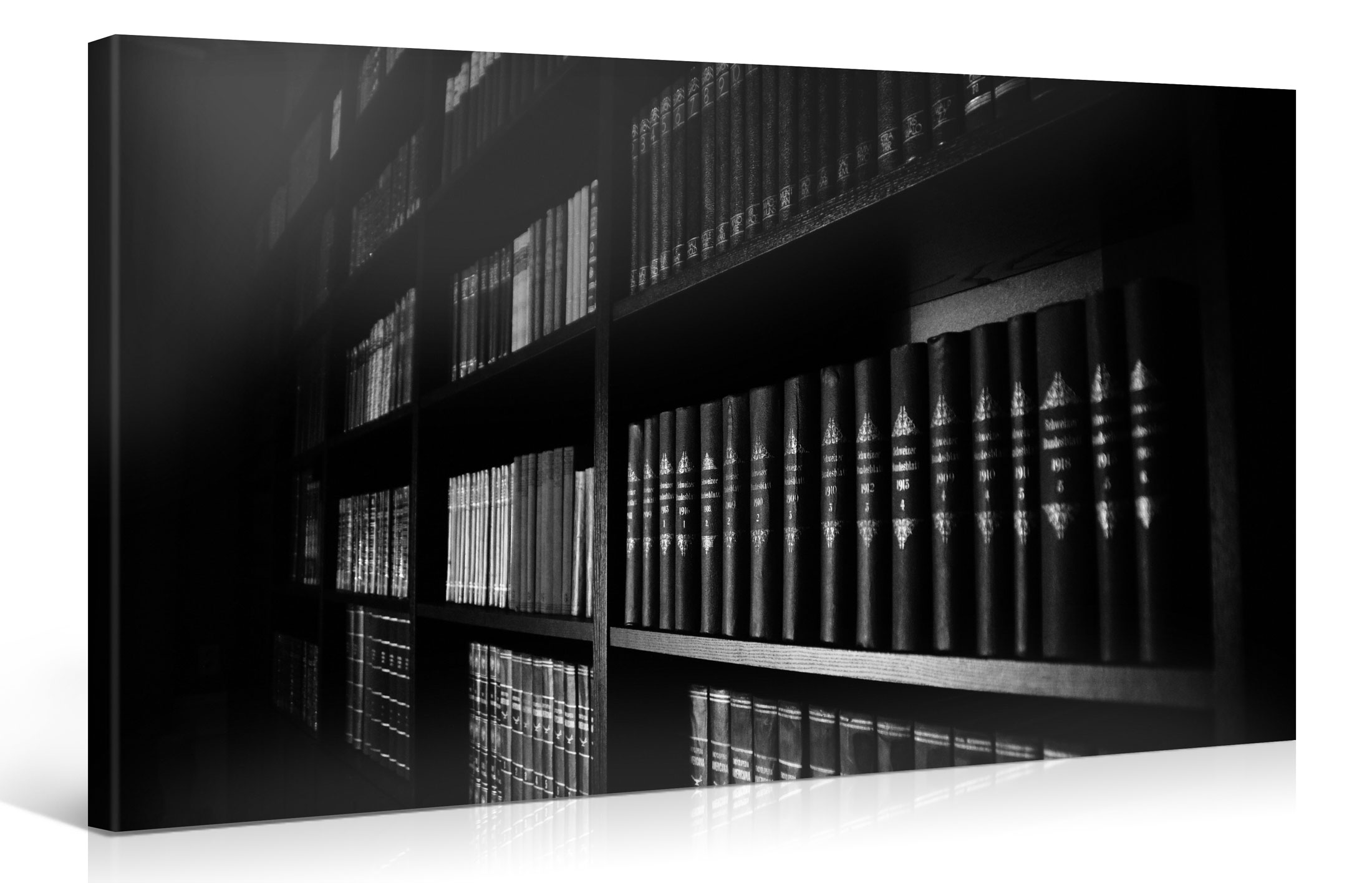 BLACK & WHITE BOOKSHELF - 100x50cm -  #e6588