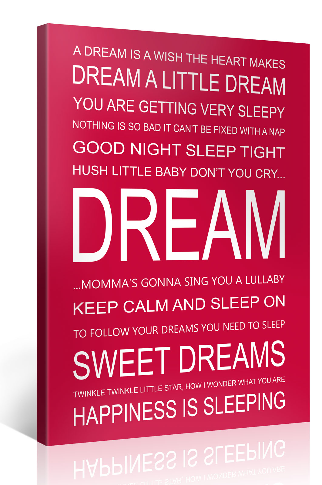 DREAM - 75x100cm Motivation Text Leinwandbild #e7251