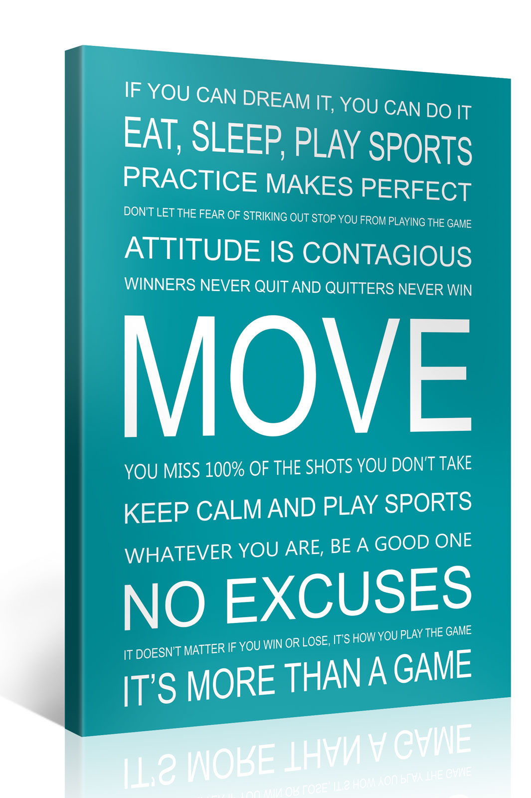 MOVE - 75x100cm Motivation Text Leinwandbild #e7255